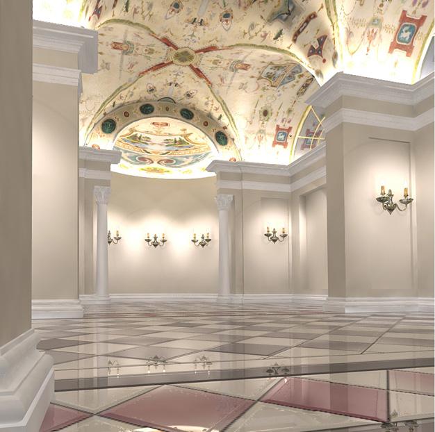 Интерьер картинной галереи сарос